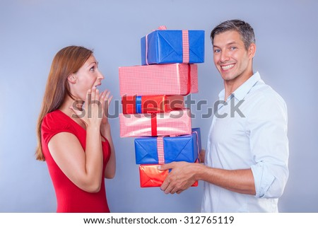 guy surprising with delivering post packet
