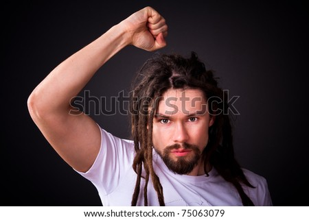 guy with long dreadlocks