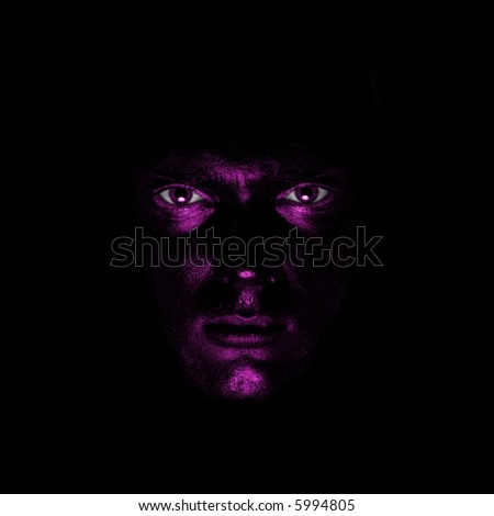 guy with purple painted face