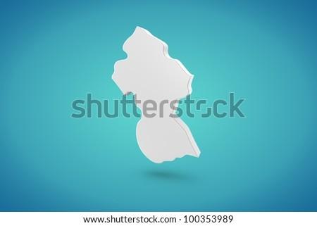 Guyana Map - stock photo