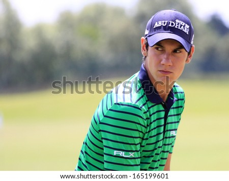 GUYANCOURT , FRANCE, JULY 05, 2013 : Matteo Manassero  (ITA) During the second round of the French Open, European golf tour, July 05, 2013 at The golf National, Guyancourt, France.