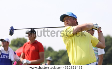 GUYANCOURT , FRANCE, JULY 03, 2015 : Pelle Edberg ( swe  ) During the third round of the French Open, European golf tour, July 03, 2015 at The golf National, Guyancourt, France.
