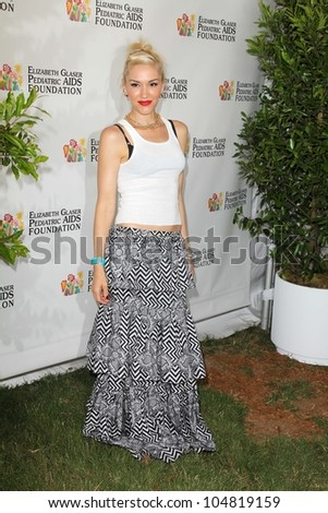 "Gwen Stefani at the Elizabeth Glaser Foundation's ""A Time for Heroes"" Celebrity Picnic, Wadsworth Theater, Los Angeles, CA 06-03-12"