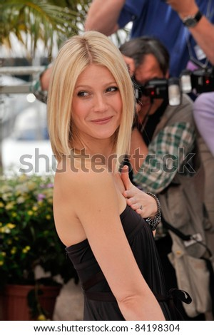 "Gwyneth Paltrow at the photocall for her new movie ""Two Lovers"" at the 61st Annual International Film Festival de Cannes. May 20, 2008  Cannes, France. Picture: Paul Smith / Featureflash"