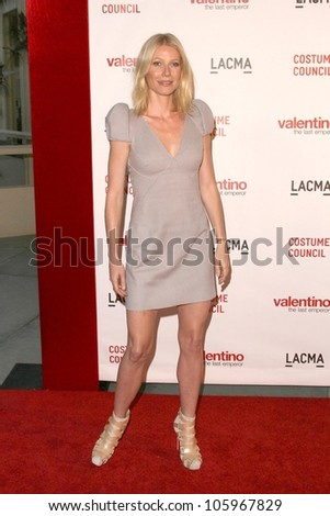 Gwyneth Paltrow at the West Coast Premiere of 'Valentino - The Last Emperor'. LACMA, Los Angeles, CA. 04-01-09