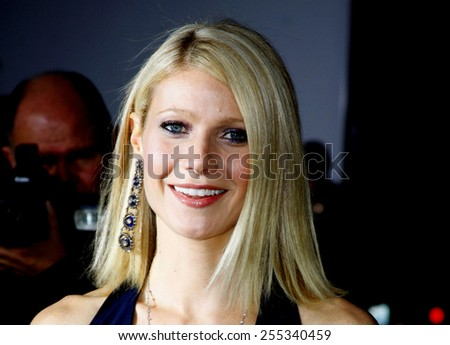 "Gwyneth Paltrow attends the Los Angeles Premiere of ""Iron Man"" held at the Grauman's Chinese Theater in Hollywood, California, United States on April 30, 2008.  - stock photo"