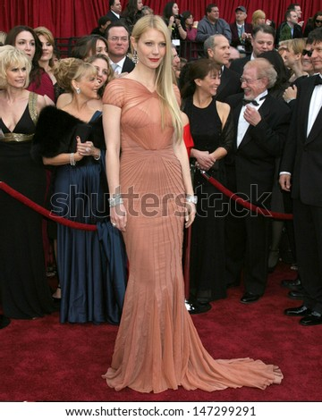 Gwyneth Paltrow 79th Annual Academy Awards Kodak Theater  Hollywood & Highland Hollywood, CA February 25, 2007 - stock photo