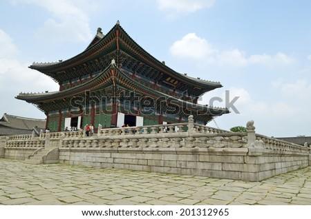 Gyeongbok Palace, Seoul, Korean Republic   - stock photo