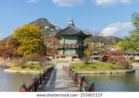 Gyeongbokgung Palace in Seoul,South Korea - stock photo