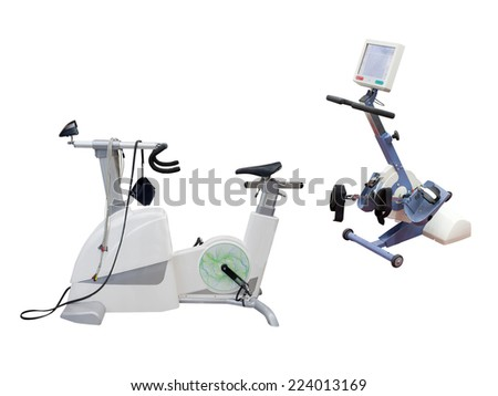 gym apparatus under the white background