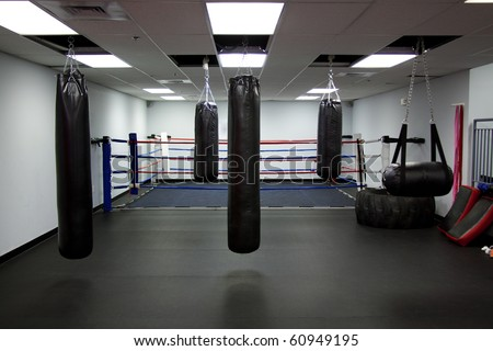 Gym,Punching bags - stock photo