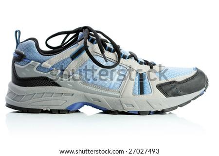 Gym shoe, isolated on white - stock photo