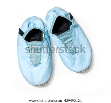 Gym shoes baby isolated on white with clipping path