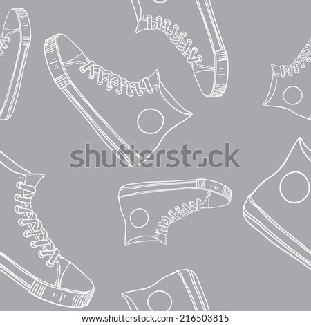 gym shoes pattern. vector
