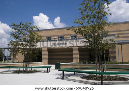 Gymnasium at New Middle School in Florida. - stock photo