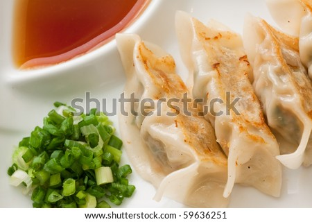 Gyoza close up. - stock photo