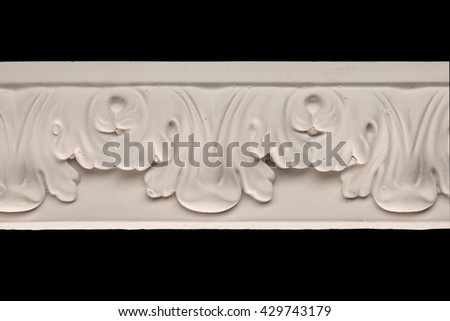 gypsum products, pattern, ornament on a black background