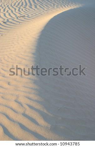 Gypsum Sand Dunes- Guadalupe Mountains National Park - stock photo