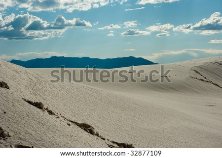 Gypsum sand dunes in the White Sands National Monument