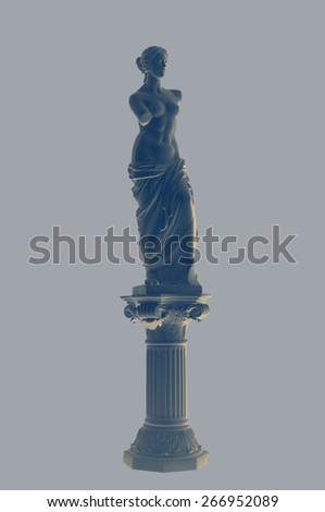 gypsum statue of a woman in a classic style - stock photo