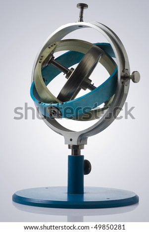gyroscope isolated with clipping path - stock photo