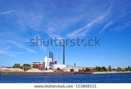 H. C. Oersted Power Station on the 7th of september 2013 is a power station located at Enghave Brygge, Sydhavnen in Copenhagen