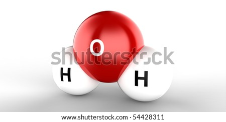 h20 chemistry atom molecule formula for water - stock photo