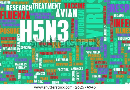 H5N3 Concept as a Medical Research Topic - stock photo