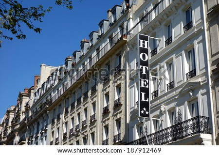 H�´tel in Paris - stock photo