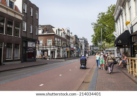 Haarlem, Netherlands, on July 11, 2014. A typical urban view