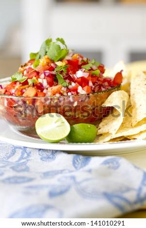 Habanero Salsa - stock photo