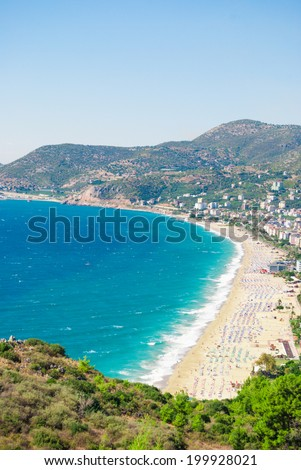 habor of Alanya and Cleopatra beach, Antalya, Turkey