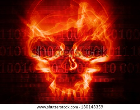 hacker attack concept background - stock photo