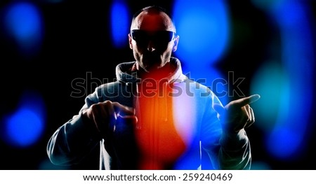 Hacker attack on futuristic computer system security - stock photo