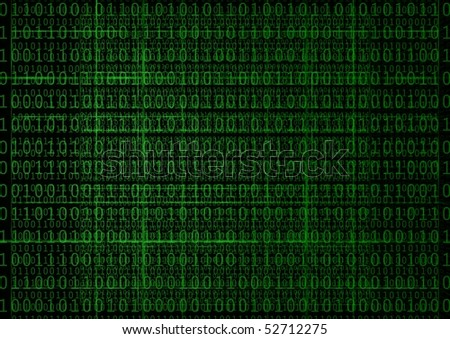 Hacker background - stock photo