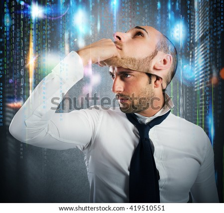 Hacker changes identity - stock photo