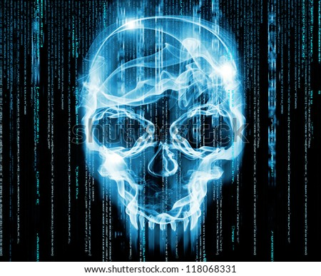 hackers concept digital illustration - stock photo