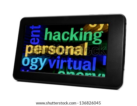 Hacking concept - stock photo