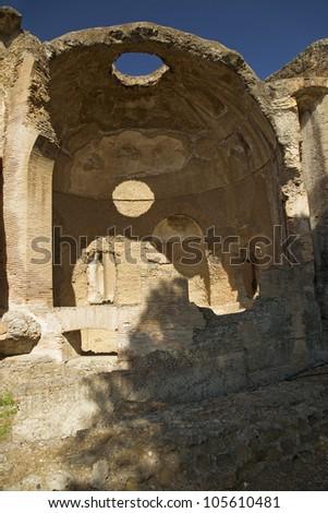Hadrian's Villa, the Roman Emperor's 'Villa', erected in 118 and 138 AD on 150 acres. - stock photo