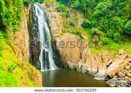 Haew Narok waterfall at national park, Thailand. - stock photo