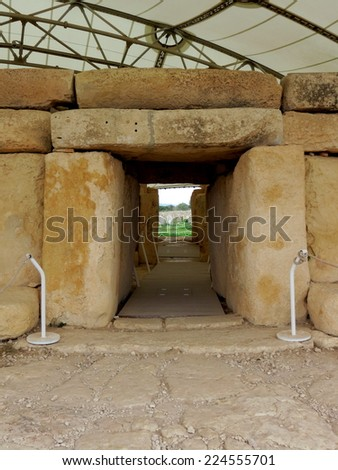 Hagar Qim Temple, Malta - stock photo