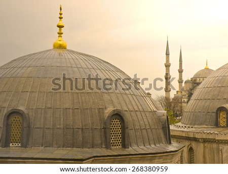 Hagia Sofia and Blue Mosque, Istanbul - stock photo