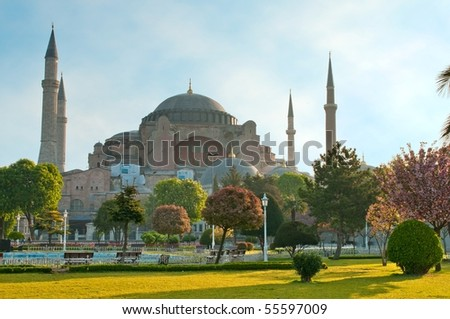 Hagia Sofia - one of the most famost buildings in Istanbul - stock photo