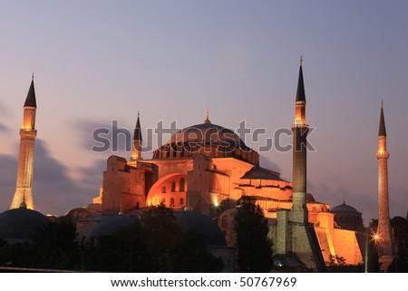 Hagia Sophia in Istanbul,Turkey. - stock photo