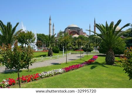 Hagia Sophia mosque, Istanbul, Turkey - stock photo