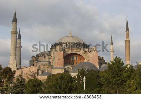 Hagia Sophia Museum in Istanbul Turkey - stock photo