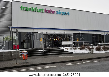 HAHN, GERMANY - JAN 16: The Airport Building  of the Airport Frankfurt-Hahn  on January 16, 2016 in Hahn / Airport Tower Airport Frankfurt-Hahn.