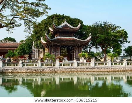 HAI DUONG, Vietnam, December 15, 2106 Temple, Confucius Temple Mao Dien, Hai Duong Province, Vietnam