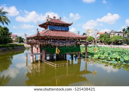 HAI DUONG, Vietnam, July 25, 2016 theatrical performances, traditional water puppet Hai Duong, Vietnam