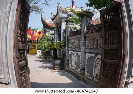 HAI DUONG, Vietnam, September 18, 2016 architecture, ancient temples, memorial general Tran Hung Dao, relic Con Son, Kiep Bac, Hai Duong, Vietnam